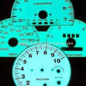 Faceplates, Customized EL Panel for Auto Meter Gauges and Other Consumer Applications