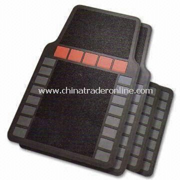 Four-piece Car Mat Set, Made of Plastic, Measuring 70 x 49.5cm