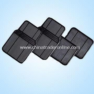 Front and Rear Rubber Car Mats Measuring 63.5 x 42cm and 35 x 42cm