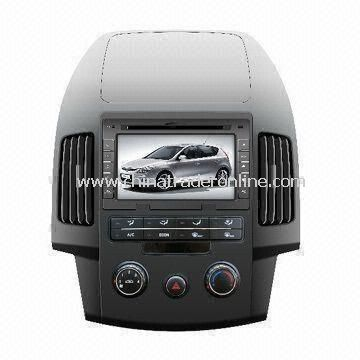 In-dash DVD Player for Hyundai i30, with 7ft LCD TFT HD Digital Screen Display and Plays Music