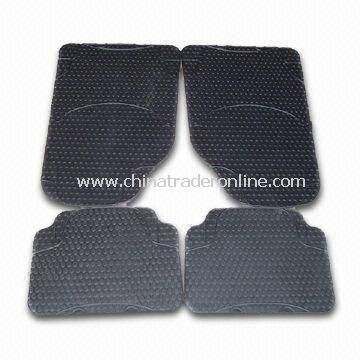 Rubber Car Mat in Black Color, OEM Orders are Accepted from China