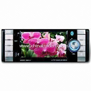4.3-inch Single Car DVD Player with Ipod Interface and Charging Function