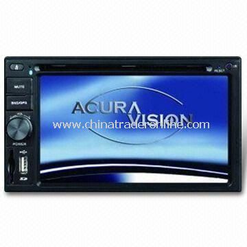 6.2 Inch TFT LCD Car DVD Player with Built-in Tuner and FM/AM Stereo Receiver