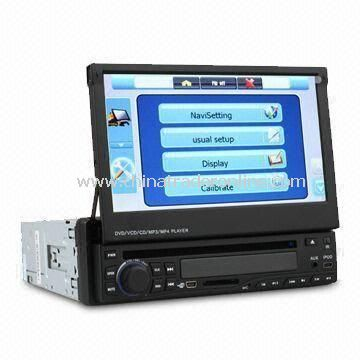 7-inch 1 DIN Car DVD Player with Motorized Digital Touchscreen/GPS/Bluetooth/TV/RDS/Subwoofer Output