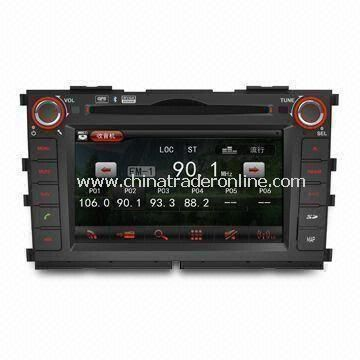 In-dash DVD Player for Kia, with Bluetooth and Navigation, Ideal for Apples iPod/iPhone/iPad