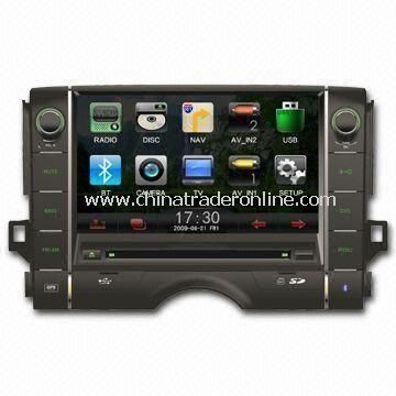 In-dash DVD Player for Toyota, with Bluetooth/Navigation, Ideal for Apples iPod/iPhone/iPad