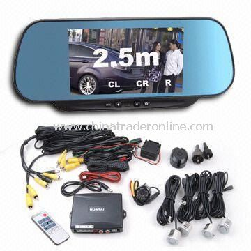 Multimedia Voice Indication Parking Sensor System with Monitor, Compatible with Car Video System