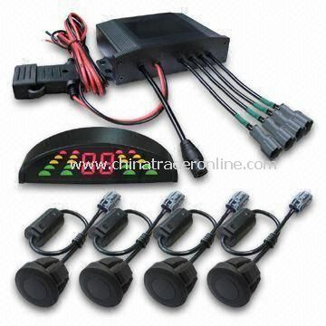 Parking Sensor System, IP68 Coach Rear 4, 3 Colors LED Improved, Anti-interference Function