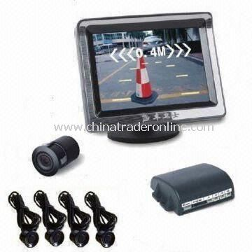 Video Car Parking Sensor System, 3.5-inch TFT-LCD Display, Displays Distance on Screen