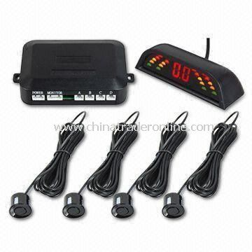 Wireless Car Entry Level Rear 4 Parking Sensor System with 30cm to 2.5m Display Range