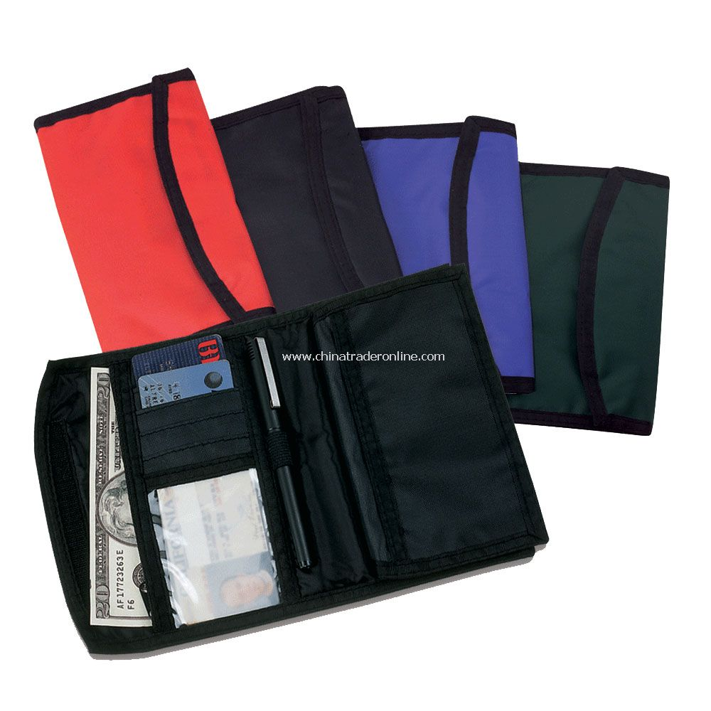 Bi-Fold Checkbook Wallet w/ Six Card Slots & Card Holder