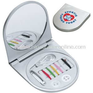 Compact Mirror Sewing Kit