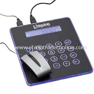 Blue Light Mouse Pad & Calculator & Hub