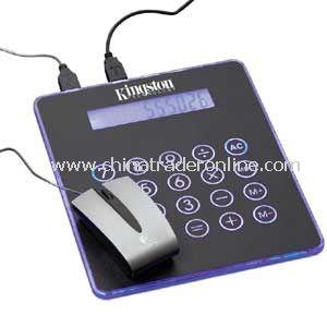 Blue Light Mouse Pad & Calculator & Hub