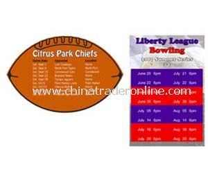 Football & Rectangle Schedule Magnet Calendars