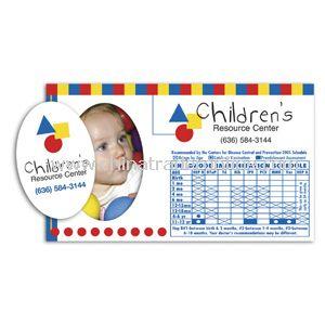 Four Color Process Immunization Schedule Magnet w/ Oval Punchout