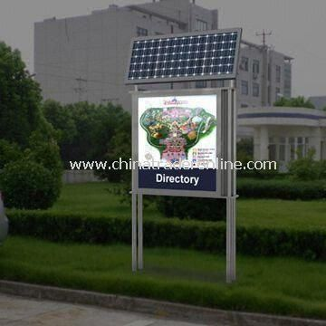 Solar Outdoor Light Box Sign From China