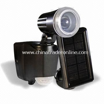 Solar Sensor Light with 1W LED Light and 12m Sensor Semi-diamete in Outdoor Light