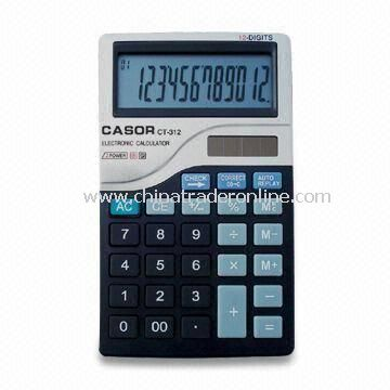 12-digit Calculator with 99 Steps Check/Correct Functions