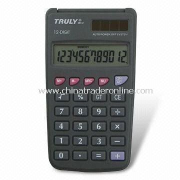 12-digit Calculator with Rubber Key