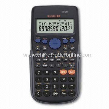240 Functions Scientific Calculator with 2 Lines Display and Slider Plastic Cover for Protection