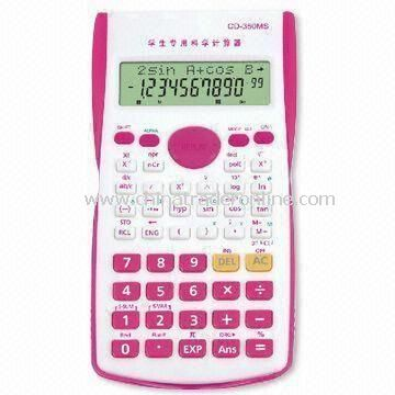 240 Functions Scientific Calculators with 2 Lines Display and Slider Plastic Cover for Protection