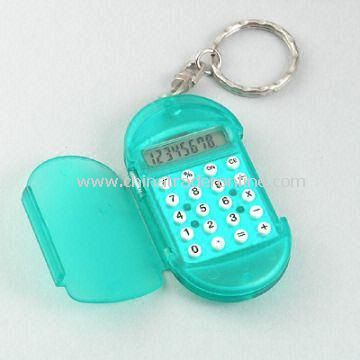 8-digit Mini-Calculator with Keychain