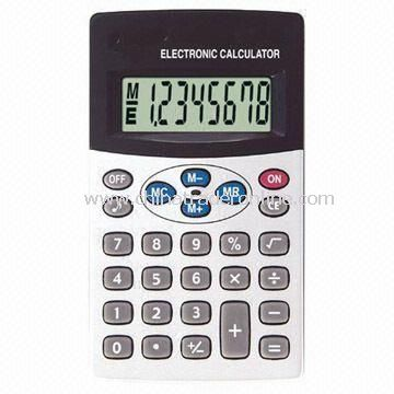 Eight Digits Handheld Calculator with Key Tone and Memory Calculation
