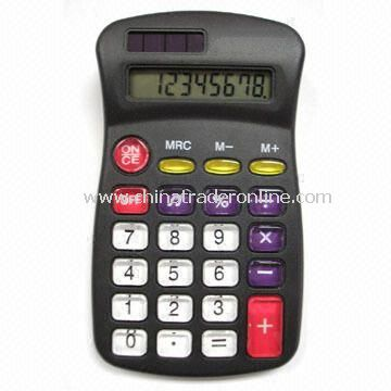 Eight Digits Handheld Calculator with Square Root/Percentage Functions