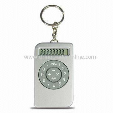 Mini 8-digit Calculator with Keyring