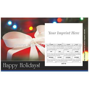 Perfed Postcard Holiday Gift w/ White Bow