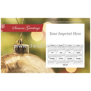 Perfed Postcard Holiday Gold Ornament