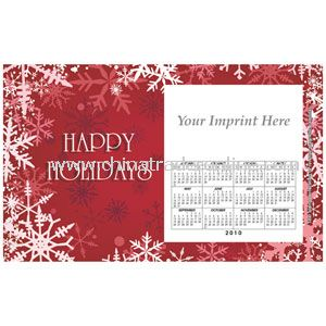 Perfed Postcard Holiday Red Snowflakes