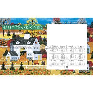 Perfed Postcard Thanksgiving Folk Art