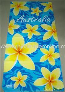 Fiber reactive printing beach towel