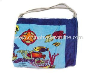 Solid Beach Towel Bag