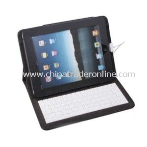 Leather Case Holder with Sewed-in Keyboard for Ipad