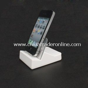 Sync Charger Cradle Dock Station with Audio Lineoout Port for Apple iPad 16G 32G 64G White