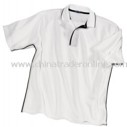 Dri-Mesh Sport Shirt with Tipped Collar and Piping from China