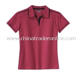Ladies Pima-Tek Sport Shirt with Contrast Piping from China