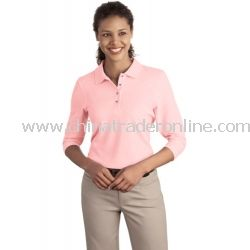 Ladies Silk Touch 3/4-Sleeve Sport Shirt