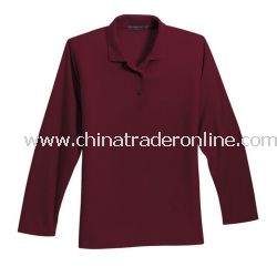 Ladies Silk Touch Long Sleeve Sport Shirt