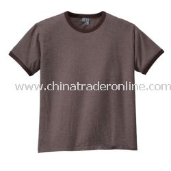 District Threads Heathered Jersey Perfect Weight Ringer Tee