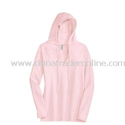 District Threads Junior Ladies Slub V-Neck Hoodie