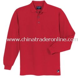 Long Sleeve Pique Knit Sport Shirt