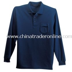 Silk Touch Long Sleeve Sport Shirt with Pocket