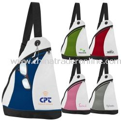 2-Tone Color Splash Side Sling Personalized Backpack
