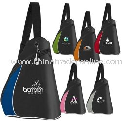 Color Splash Side Sling Personalized Backpack from China