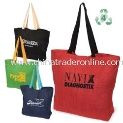 Eco-Green Jute Reusable Tote Bag