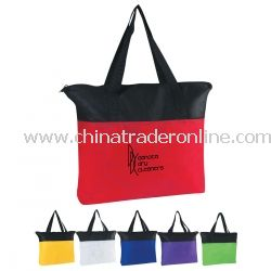 Zippered Non Woven Tote Bag from China